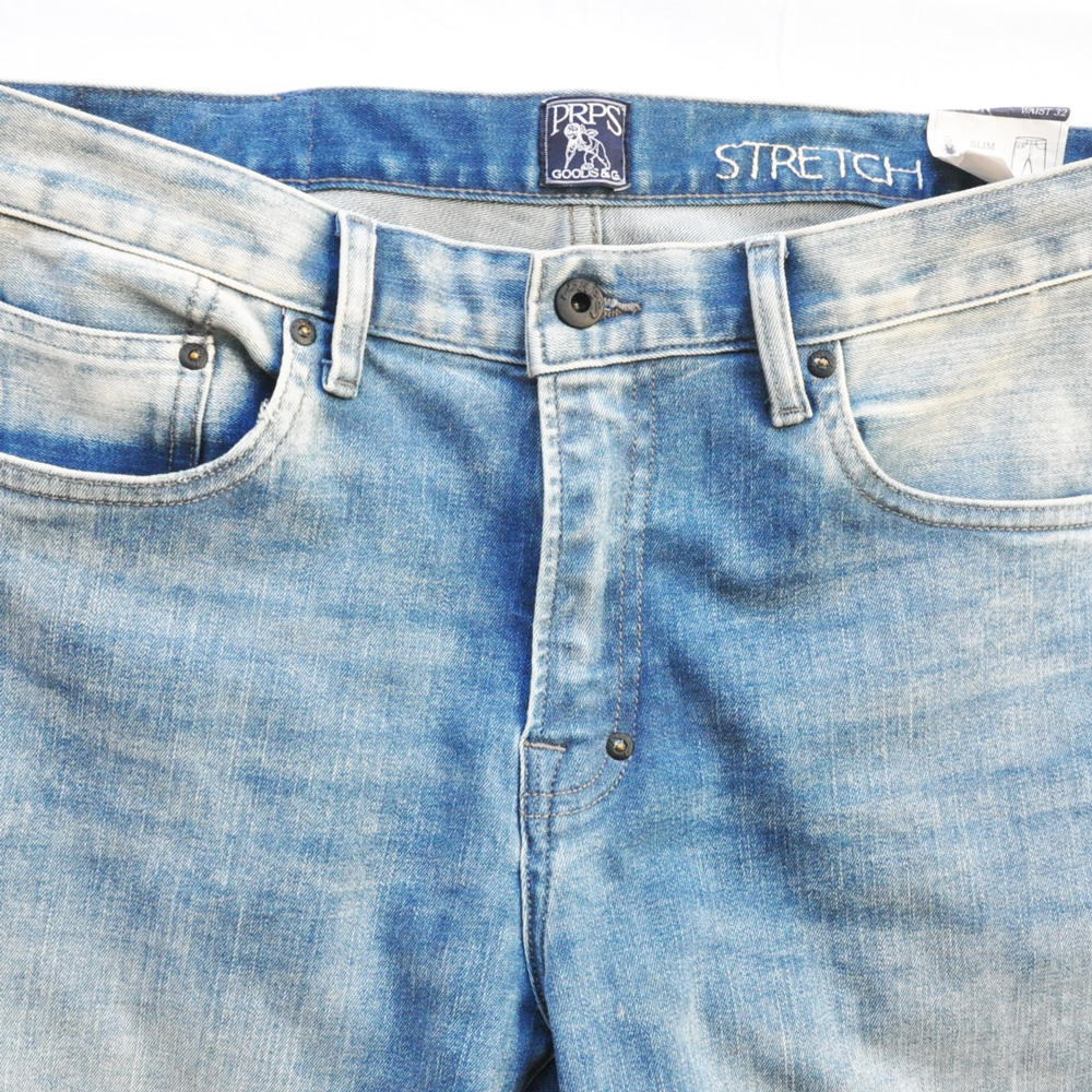 PRPS GOODS&CO./ピーアールピーエス グッズ&コー SLIM FIT MID RISE STRETCH DENIM