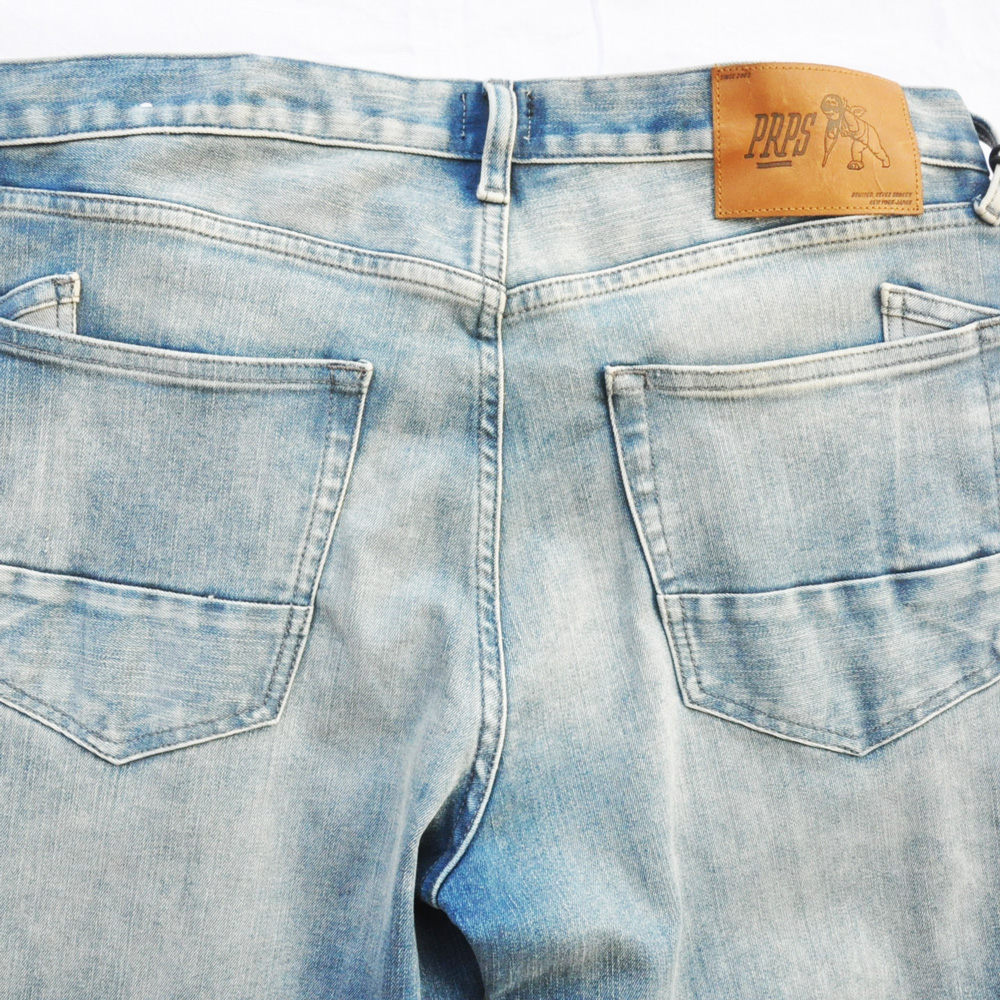 PRPS GOODS&CO./ピーアールピーエス グッズ&コー SLIM FIT MID RISE STRETCH DENIM-5