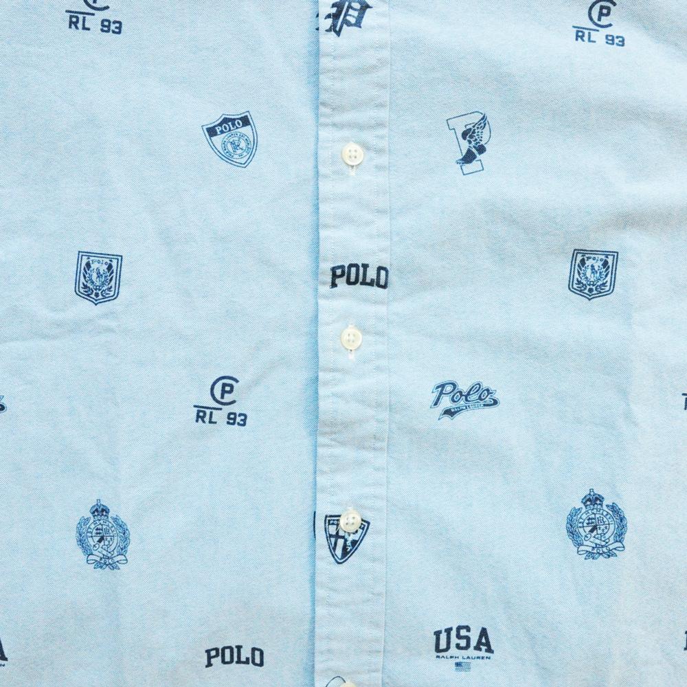 POLO RALPH LAUREN/ポロ ラルフローレン RL93 総柄 シャンブレー半袖シャツ BIG SIZE-4