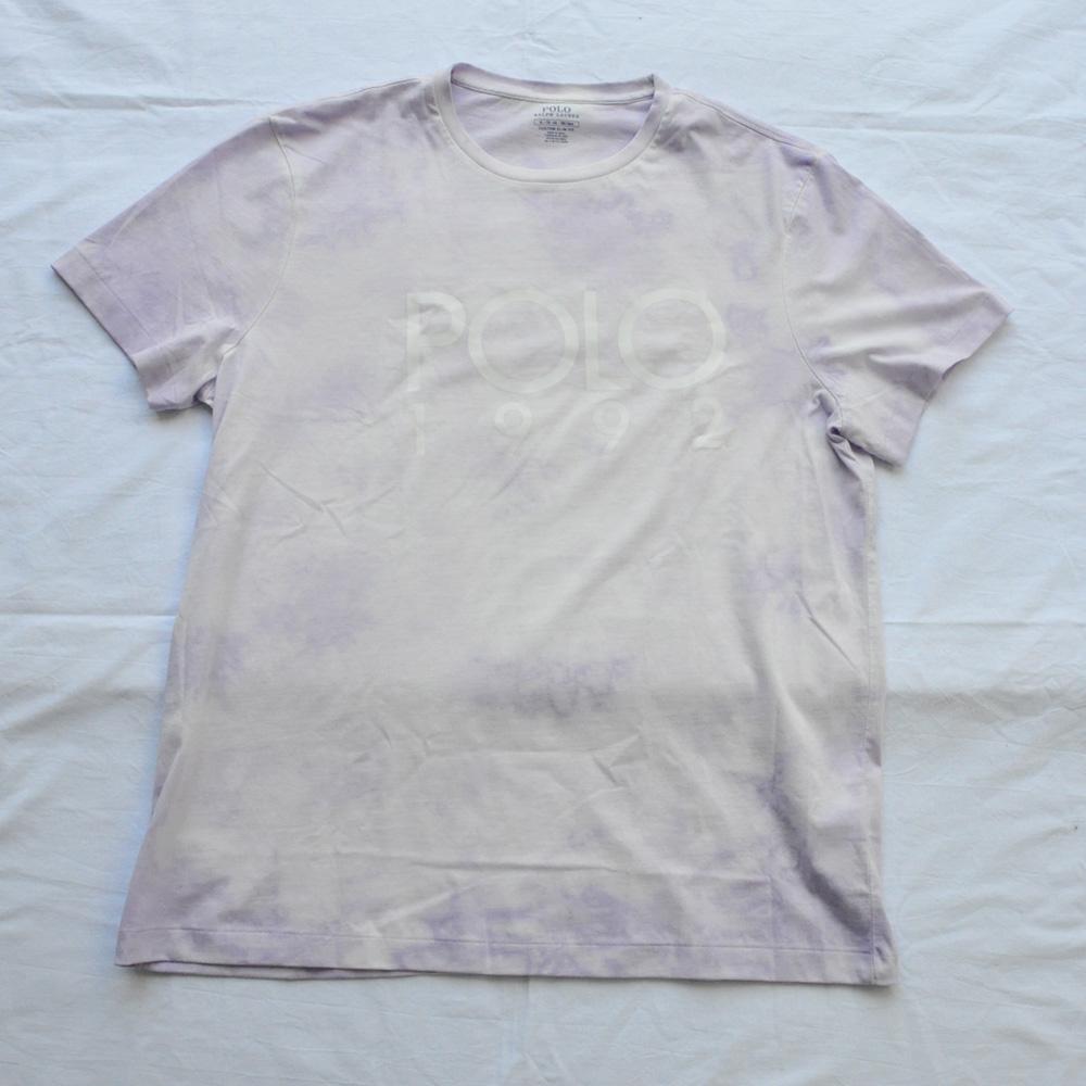 POLO RALPH LAUREN/ポロ ラルフローレン POLO 1992ロゴ タイダイ染め 半袖Tシャツ BIG SIZE