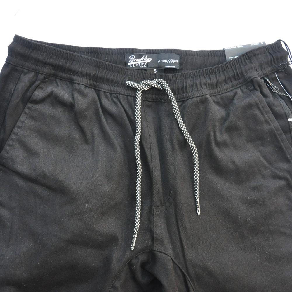 BROOKLYN CLOTH/ブルックリンクロス STRETCH TWILL TAPERDE LEG JOGGER ブラック SIZE S,M,XL-3