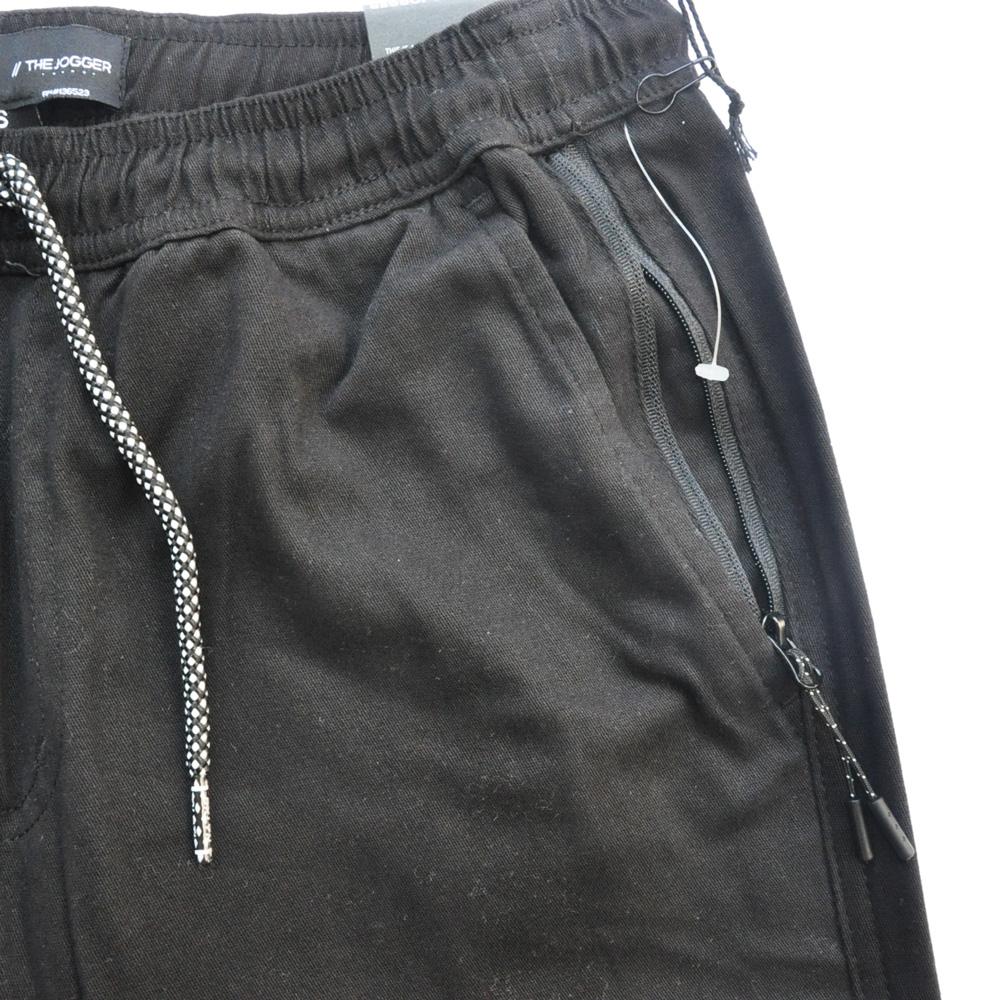 BROOKLYN CLOTH/ブルックリンクロス STRETCH TWILL TAPERDE LEG JOGGER ブラック SIZE S,M,XL-4