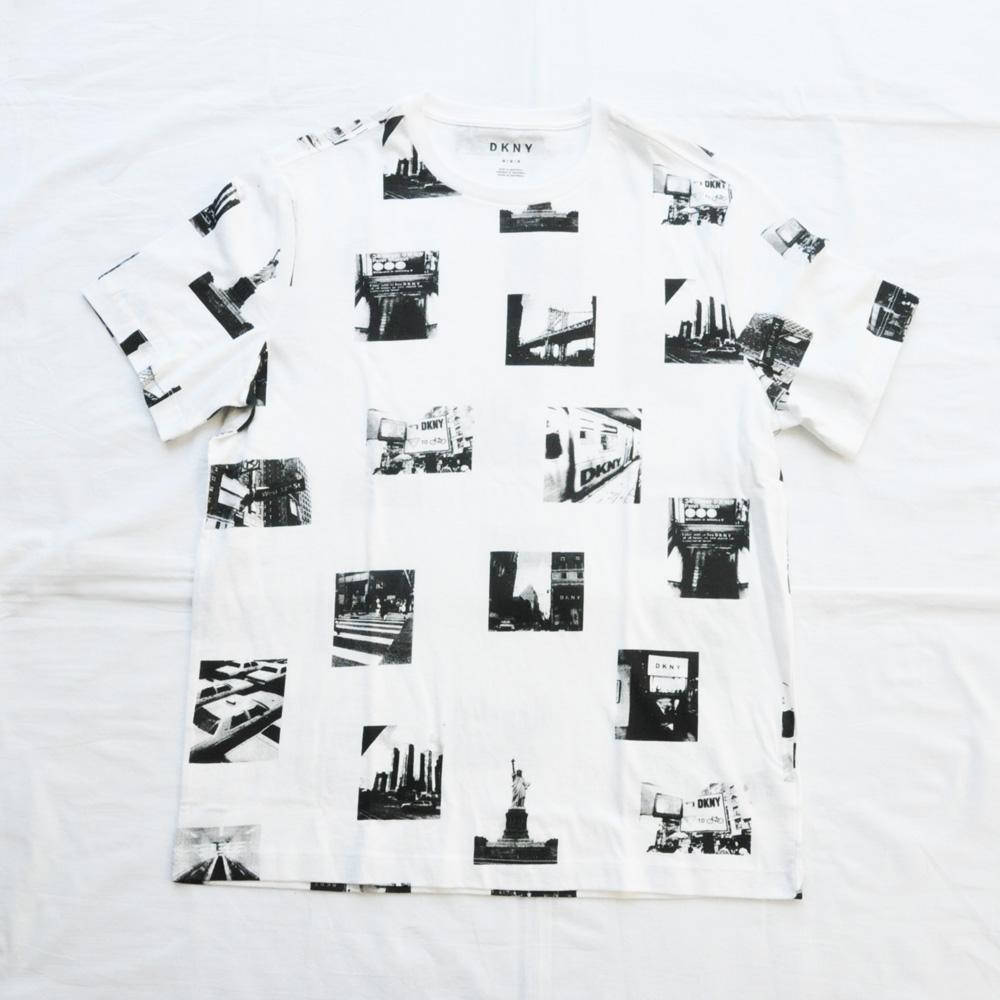 DKNY/ダナキャラン NEW YORKフォトプリント 半袖Tシャツ