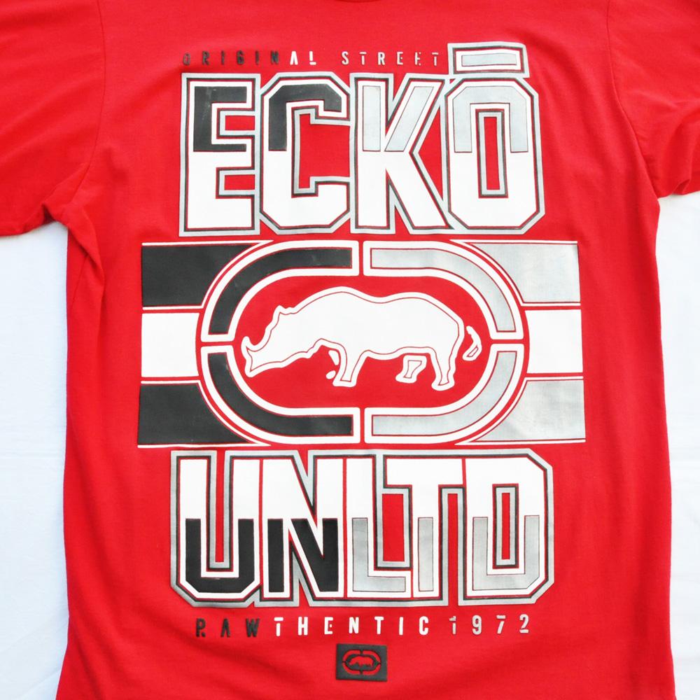 ECKO UNLTD/エコーアンリミテッド プリントロングスリーブTシャツ レッド DEAD STOCK-3