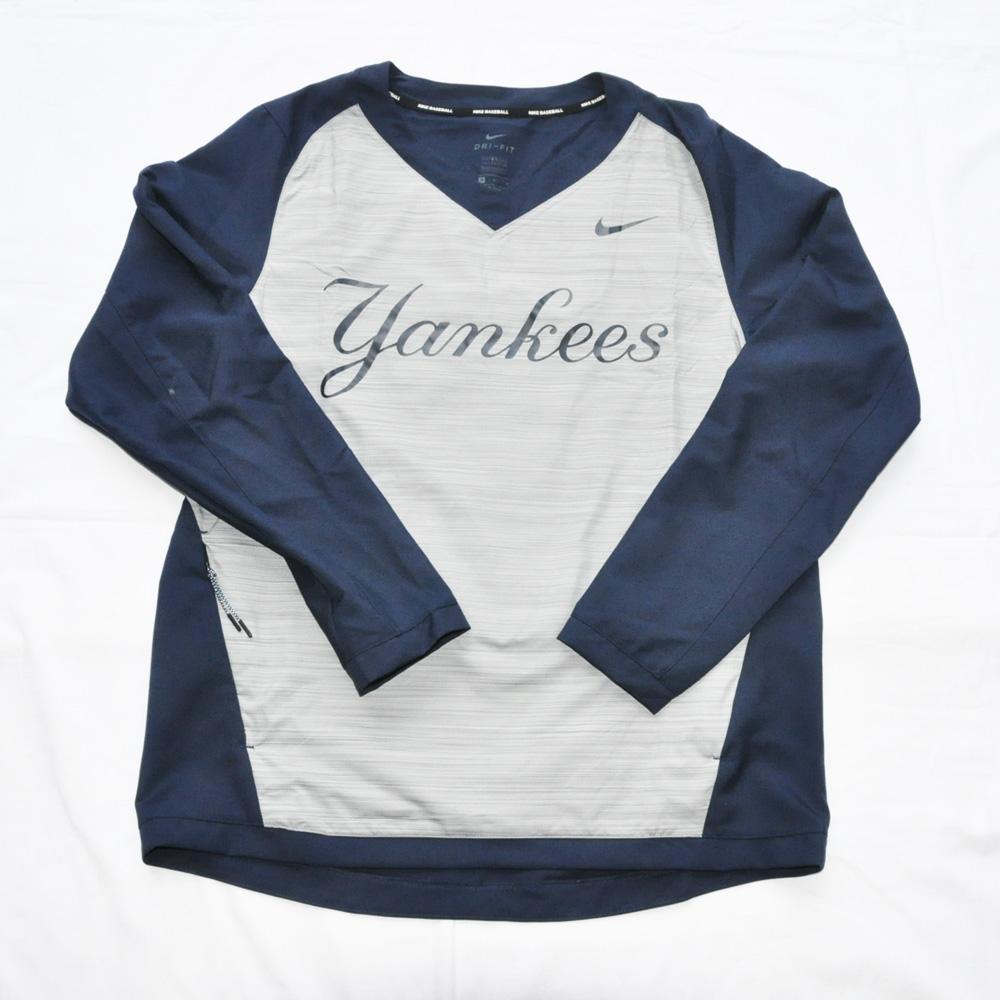 NIKE / ナイキ NEW YORK YANKEESE×NIKE BASEBALL ロングスリーブゲームシャツ