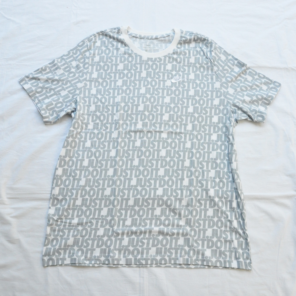 NIKE/ナイキ JUST DO IT 総柄 半袖Tシャツ BIG SIZE