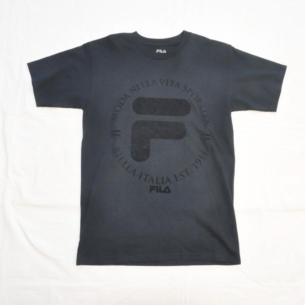 FILA /フィラ フェルトロゴ Tシャツ ネイビー