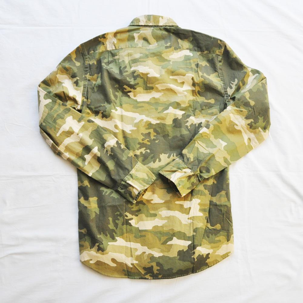 J.CREW/ジェイクルー カモフラ柄 SLIM FIT ロングスリーブシャツ-2