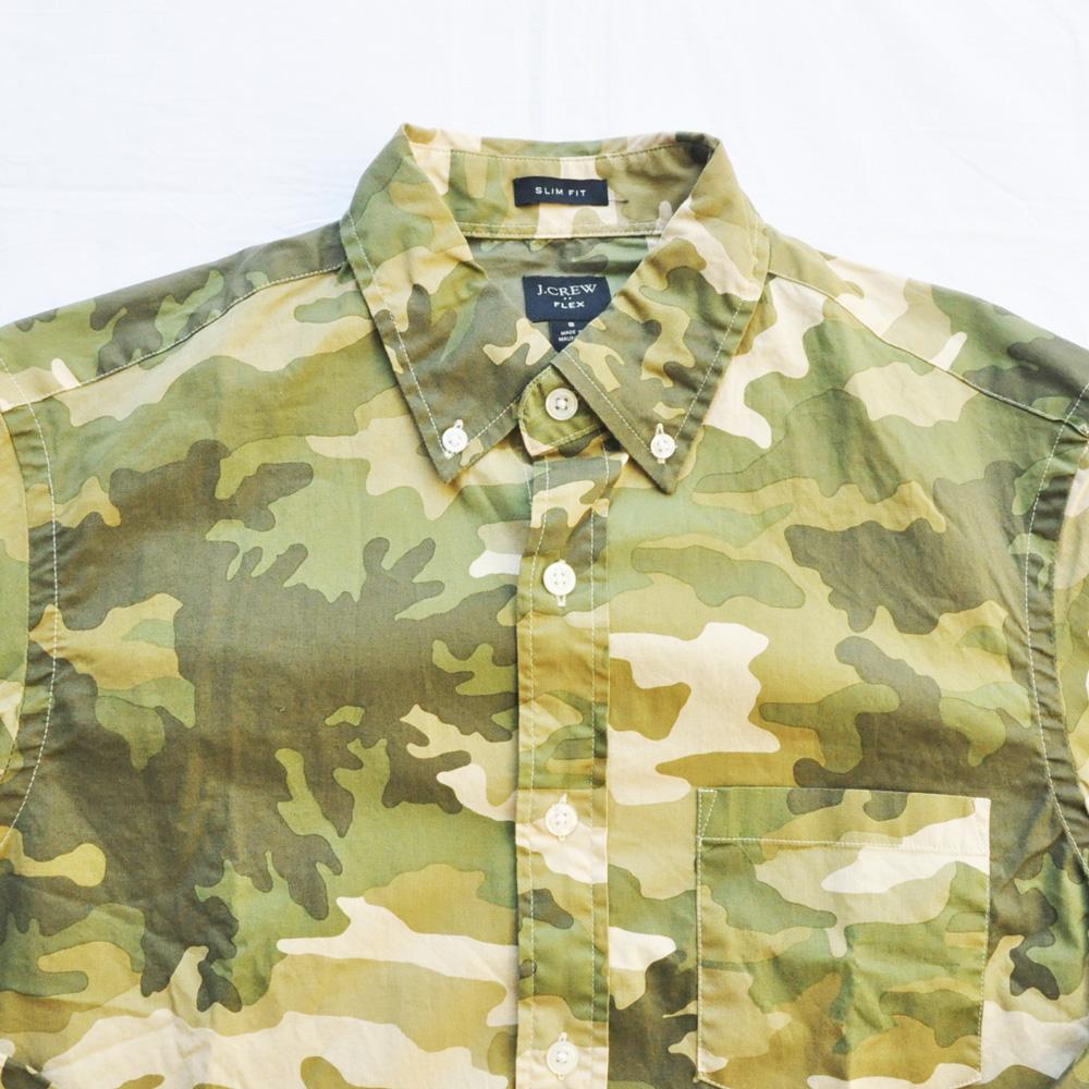 J.CREW/ジェイクルー カモフラ柄 SLIM FIT ロングスリーブシャツ-3