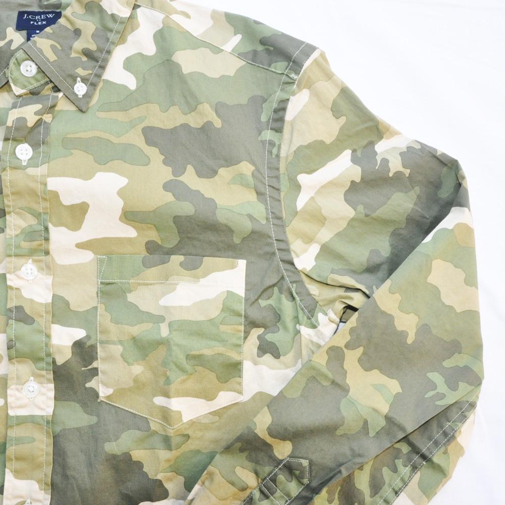 J.CREW/ジェイクルー カモフラ柄 SLIM FIT ロングスリーブシャツ-4