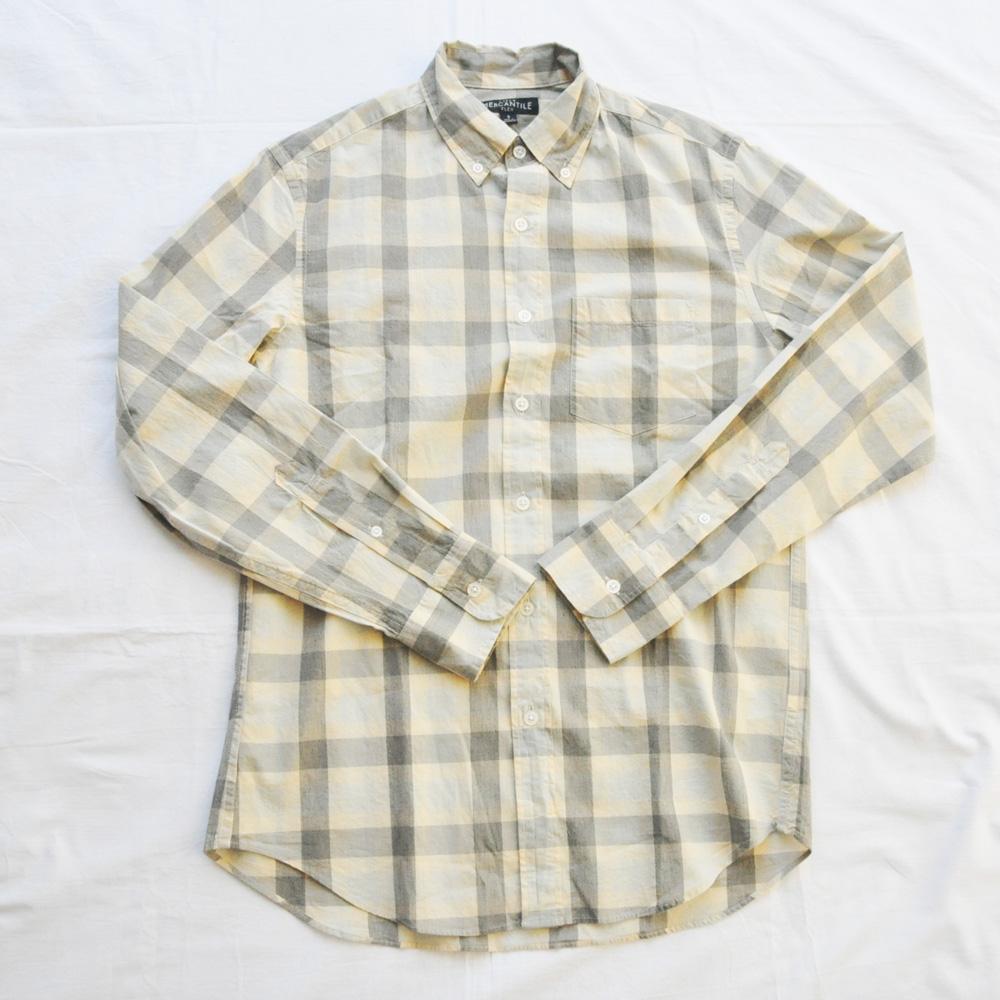 J.CREW/ジェイクルー ブロックチェック柄 ロングスリーブシャツ S.XL