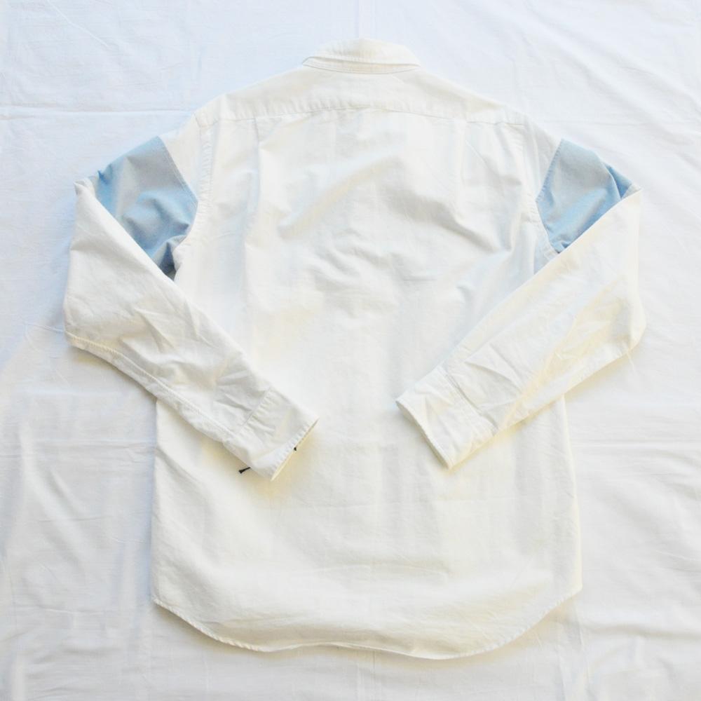 POLO RALPH LAUREN/ポロラルローレン POLOロゴ パッチワーク ロングスリーブシャツ-2