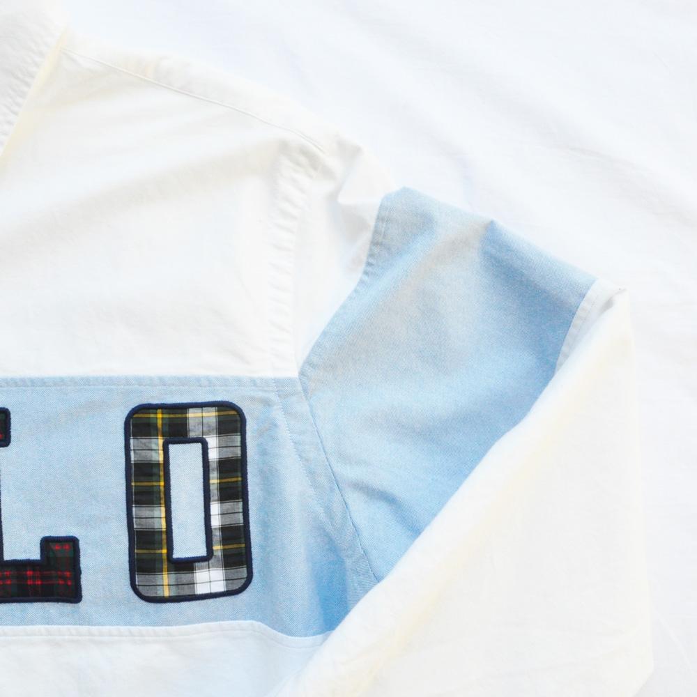 POLO RALPH LAUREN/ポロラルローレン POLOロゴ パッチワーク ロングスリーブシャツ-4