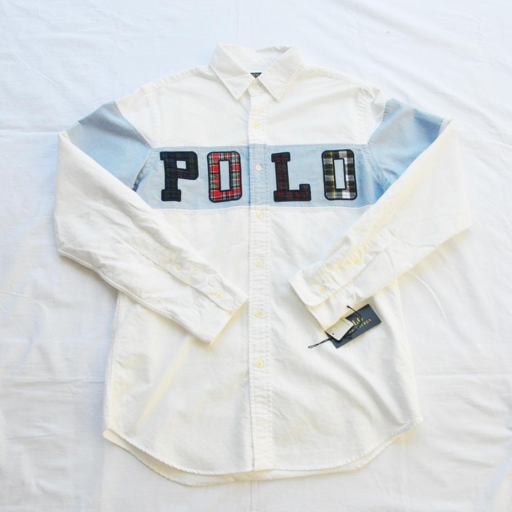 POLO RALPH LAUREN/ポロラルローレン POLOロゴ パッチワーク ロングスリーブシャツ