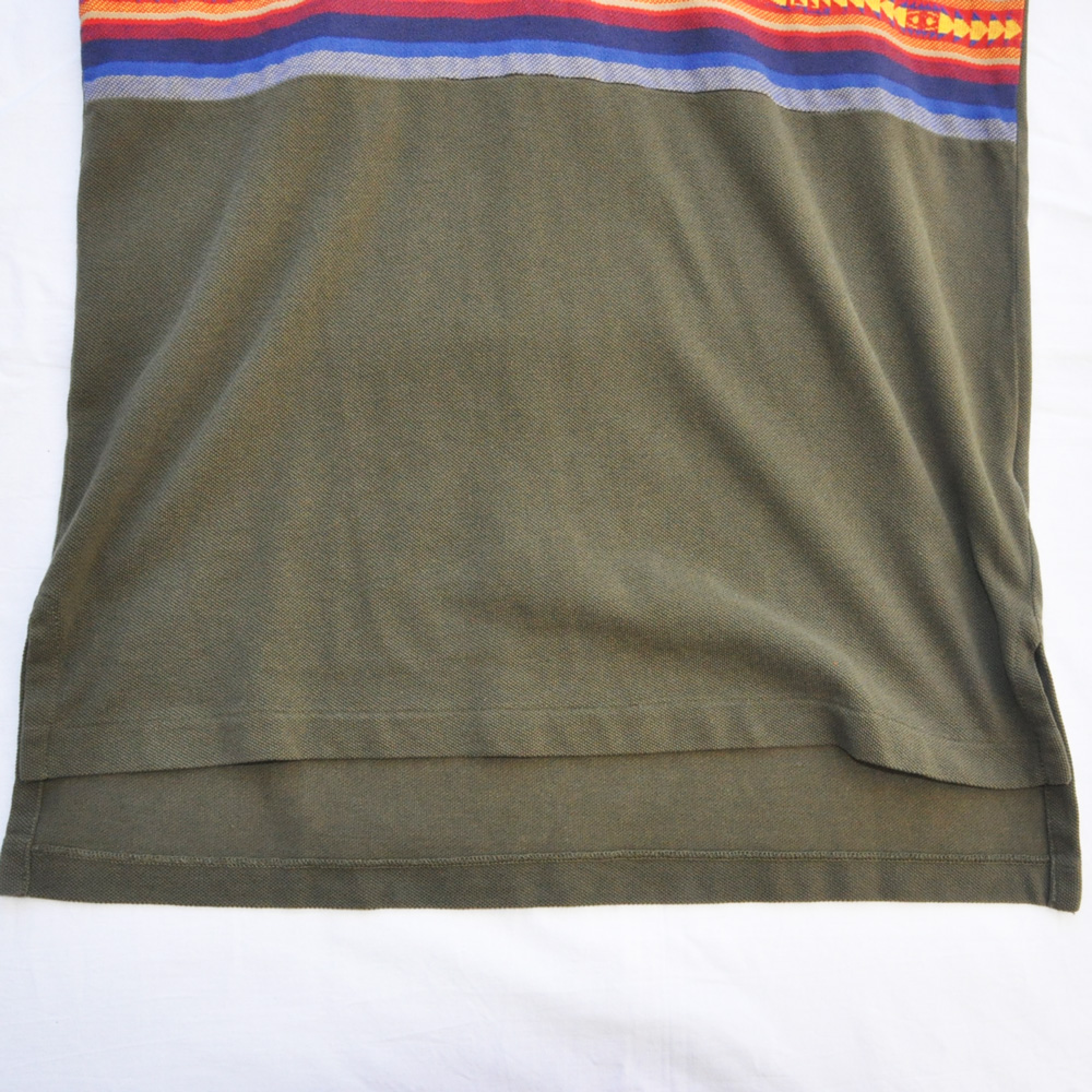 POLO RALPH LAUREN/ポロラルローレン ネイティブ柄 半袖ポロシャツ オリーブ-5