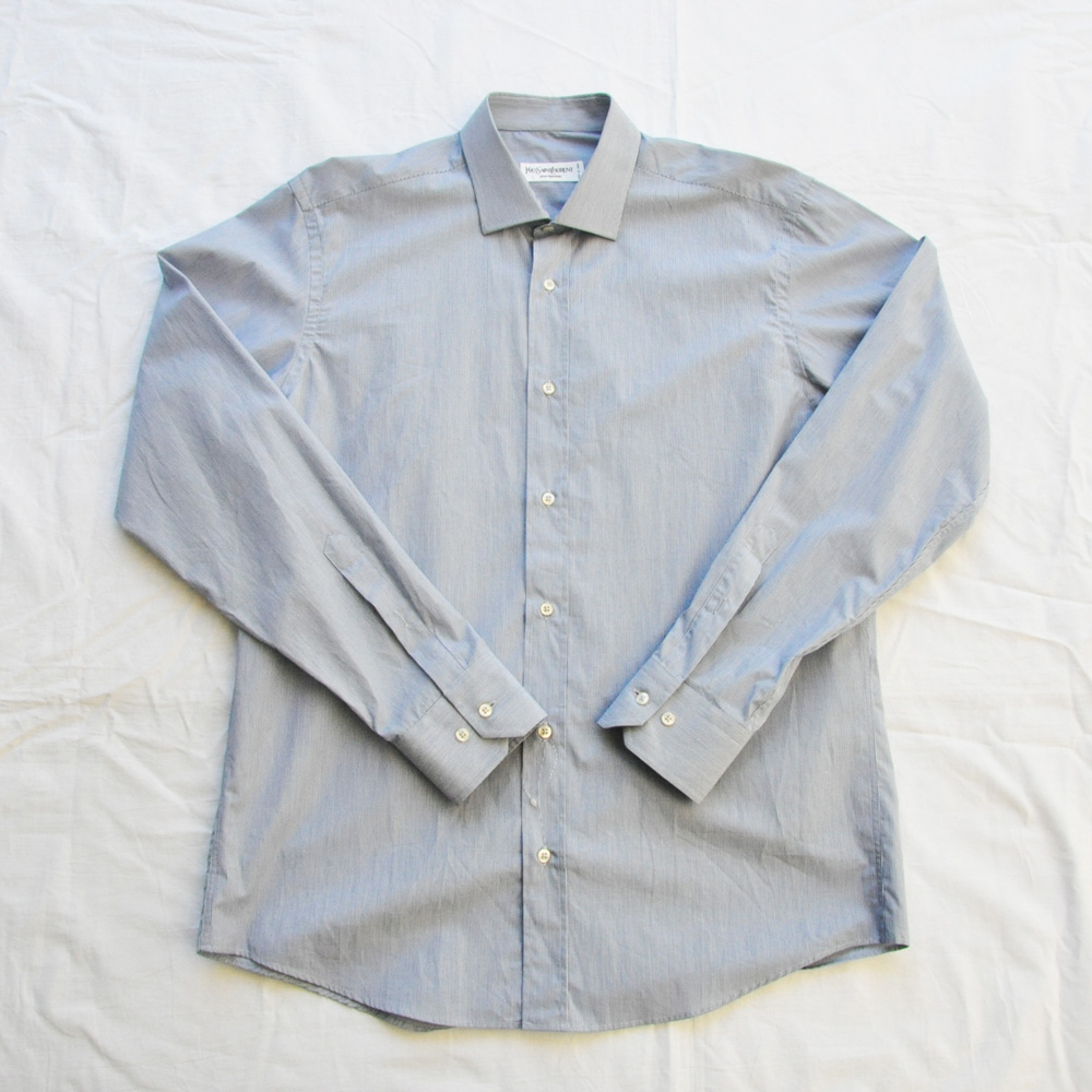 YVES SAINT LAURENT/イブ・サンローラン ストライプ柄 Yシャツ DEAD STOCK