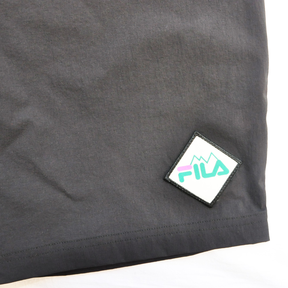 FILA /フィラ WINDSHEAR ベルト付き ナイロンパンツ ブラック-4