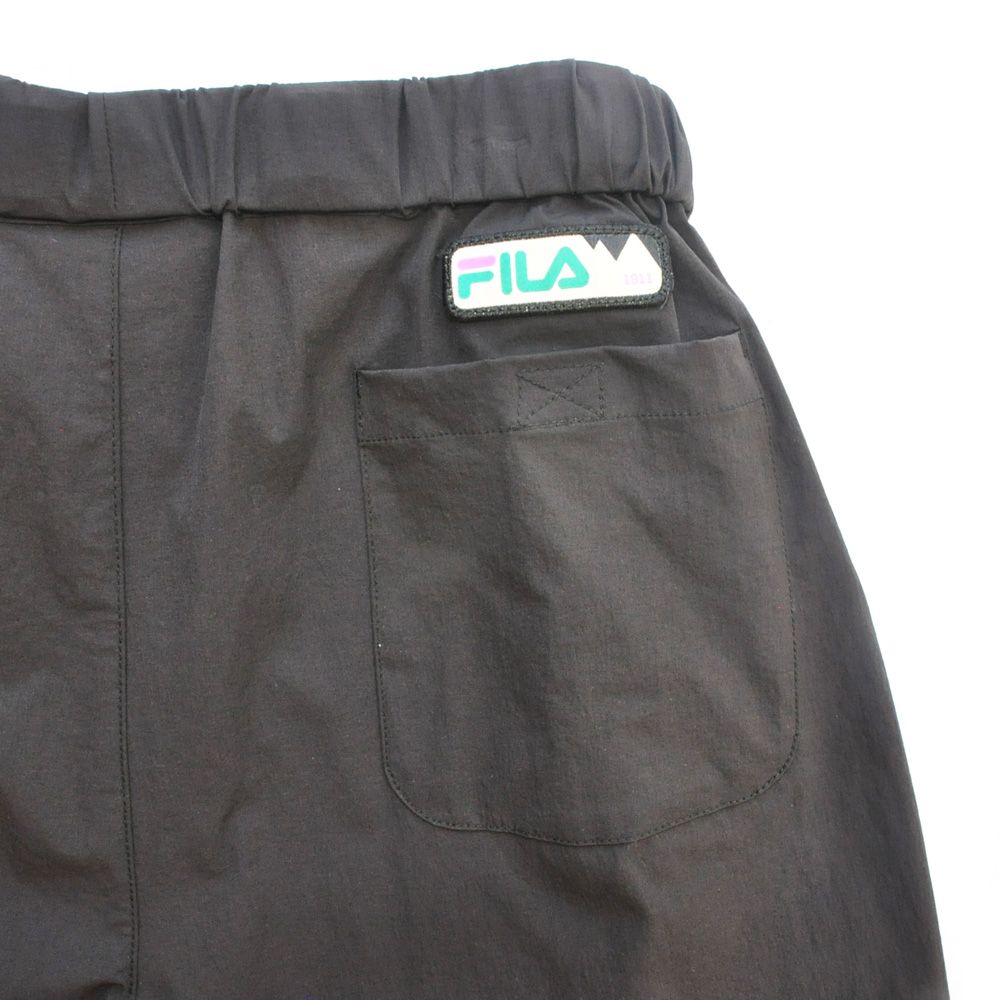 FILA /フィラ WINDSHEAR ベルト付き ナイロンパンツ ブラック-5