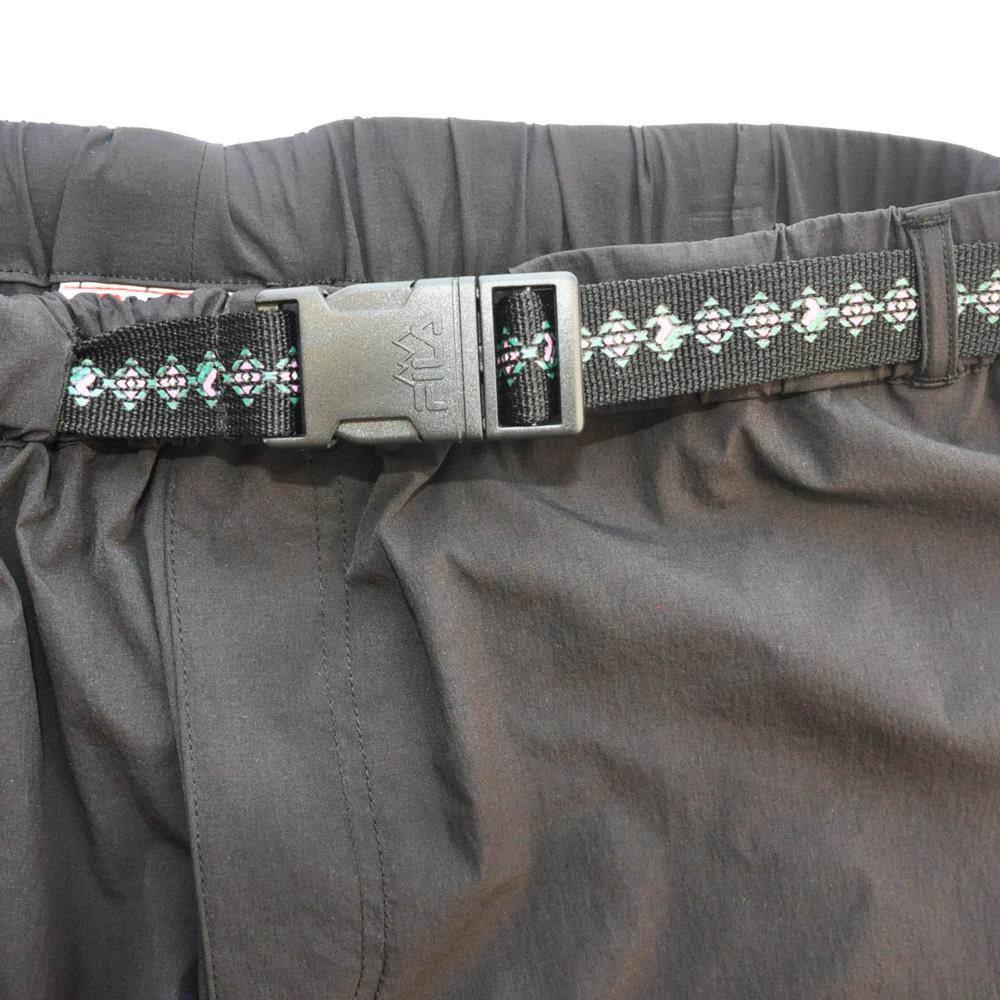 FILA /フィラ WINDSHEAR ベルト付き ナイロンパンツ ブラック-6
