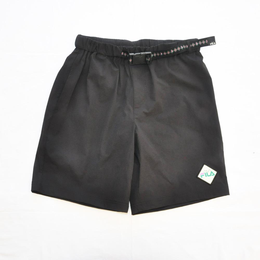 FILA /フィラ WINDSHEAR ベルト付き ナイロンパンツ ブラック