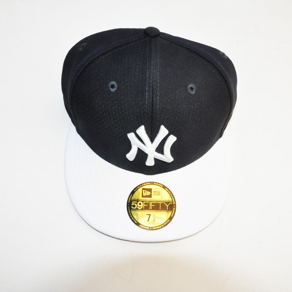 NEW ERA/ニューエラ 59FIFTY NEW YORK YANKEES CAP ブラック×ホワイト