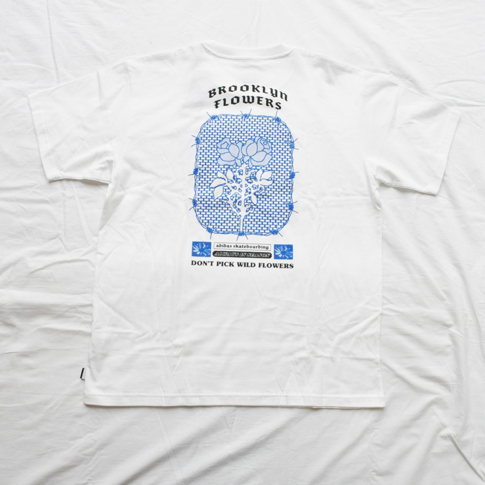 ADIDAS/アディダス adidasOriginal SKATEBOARDING BROOKLYN FLOWERS TEE