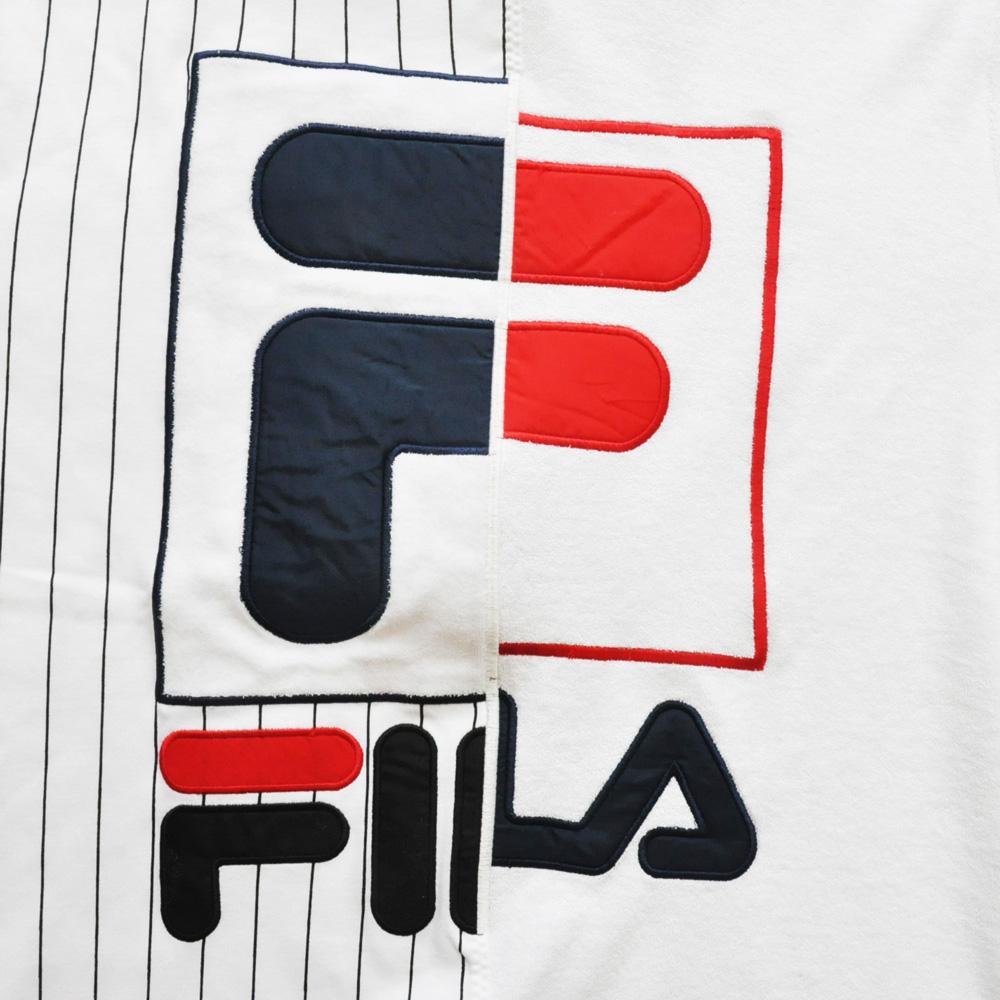 FILA /フィラ スプリットロゴ パイル地 ゲーム半袖Tシャツ-3