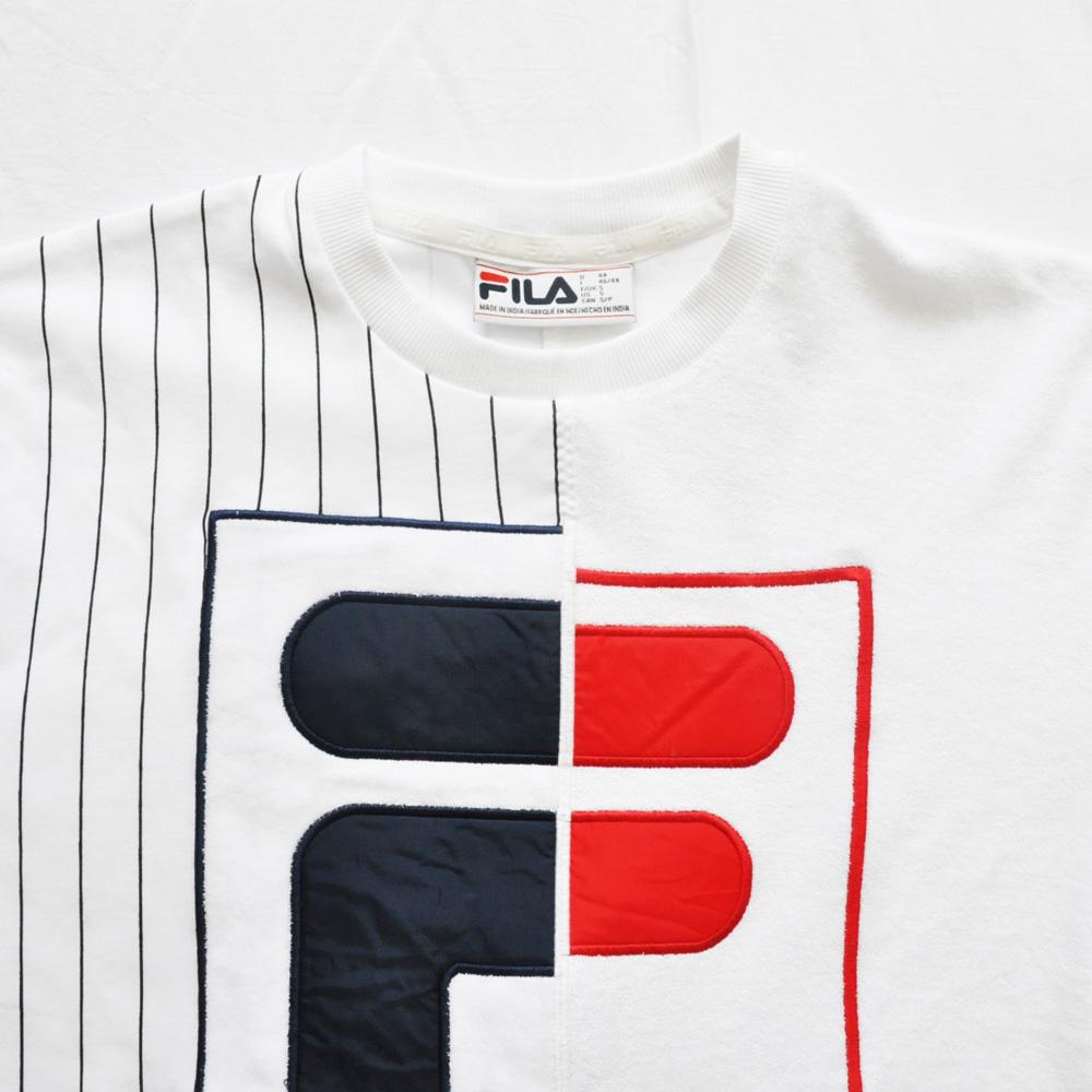 FILA /フィラ スプリットロゴ パイル地 ゲーム半袖Tシャツ-4