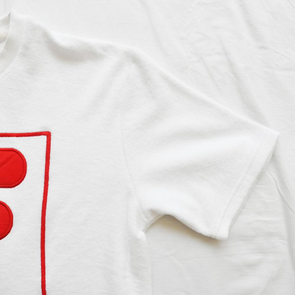FILA /フィラ スプリットロゴ パイル地 ゲーム半袖Tシャツ-6