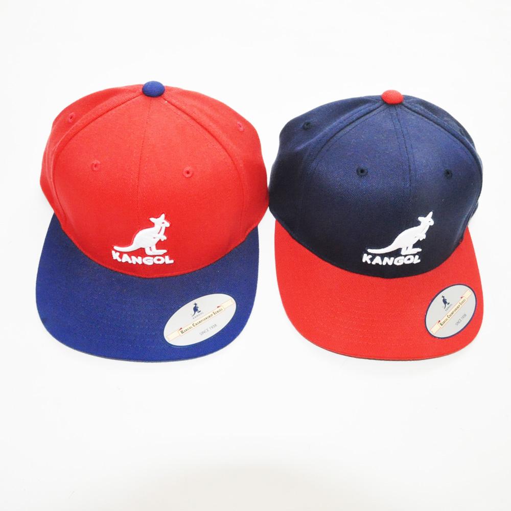KANGOL/カンゴール フロントブランドロゴ刺繍 スナップバック 2カラー