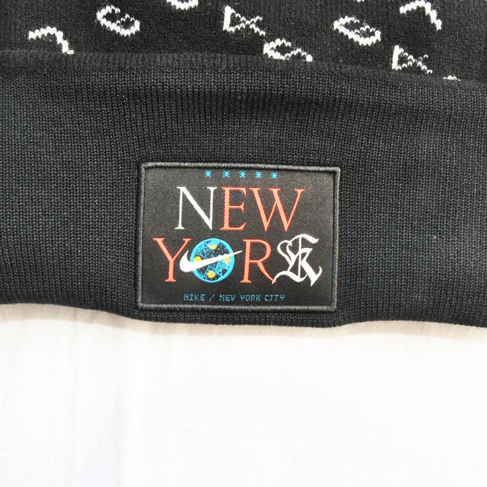 NIKE/ナイキ ナンバーモノクロム ニットキャップ NYC限定 UNISEX ブラック-4