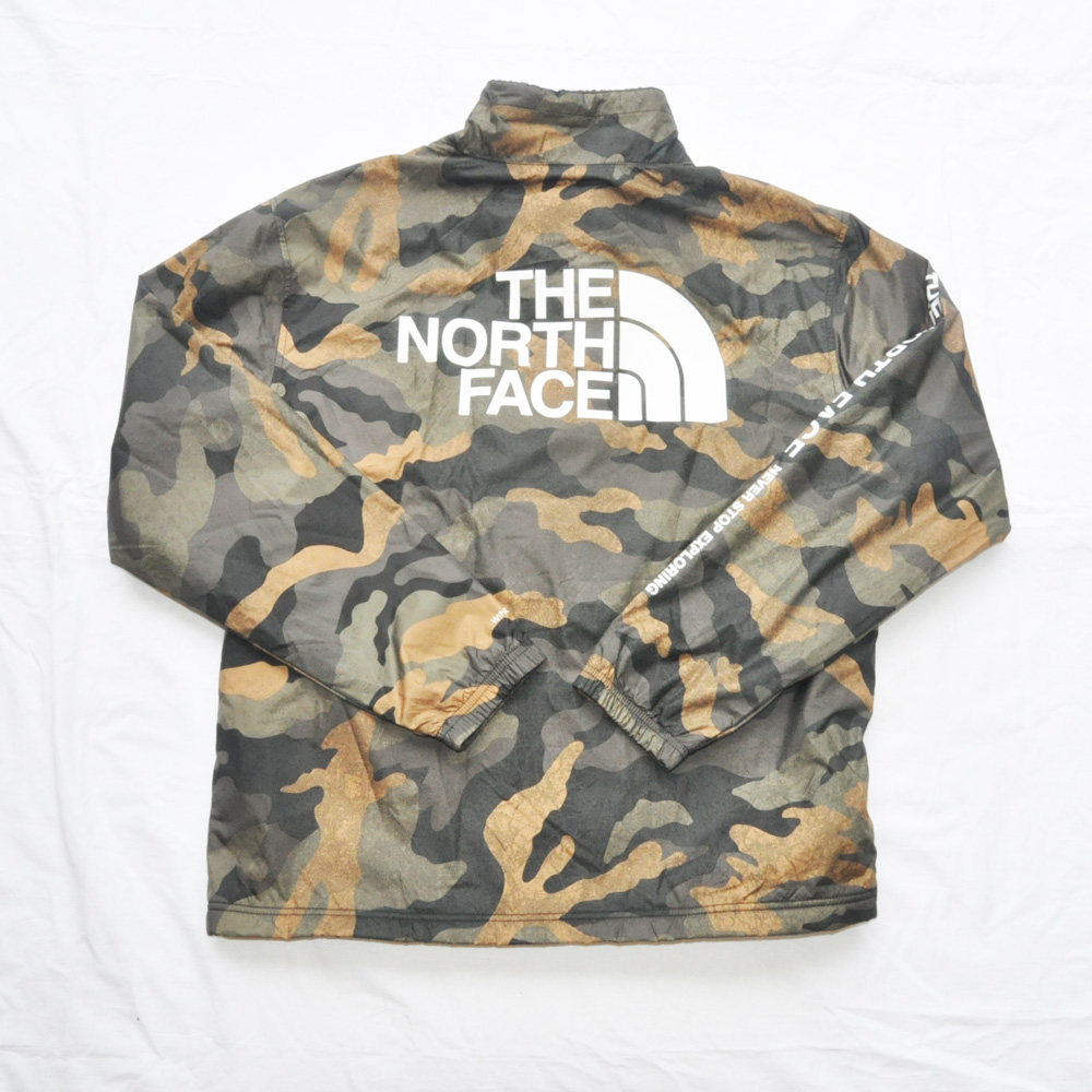 THE NORTH FACE/ザノースフェイス WIND WALL 裏ボア コーチジャケット カモフラ柄