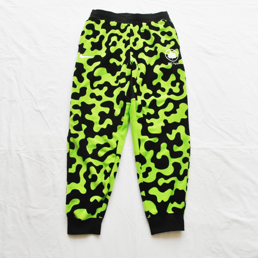 NIKE/ナイキ NYC PARKS×NIKE FLEECE JOGGER PANTS 蛍光グリーン M.L.XL