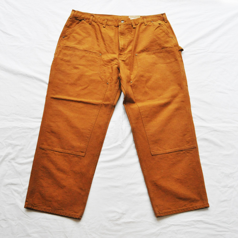 CARHARTT/カーハート US CARHARTT WASHED DUCK DOUBLE FRONT WORK DUNGAREES PANTS / BIG SIZE / W46