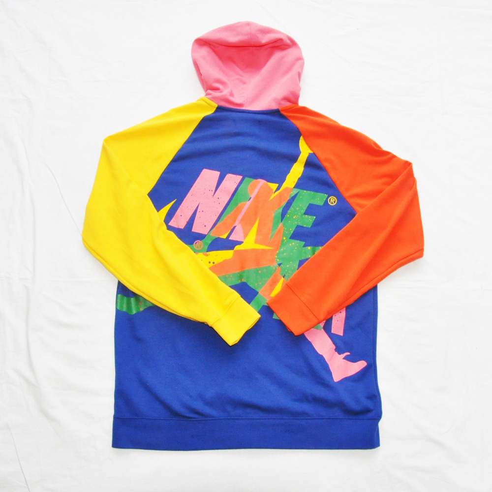 NIKE/ナイキ AIR JORDAN STANDARD FIT JUMP MAN FULL ZIP HOODE MULTICOLOR BIG SIZE