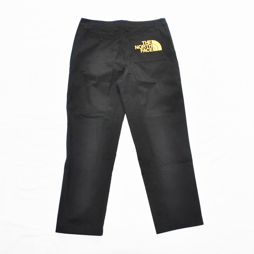 THE NORTH FACE/ザノースフェイス BACK PRINT SLACK PANTS BLACK BIG SIZE