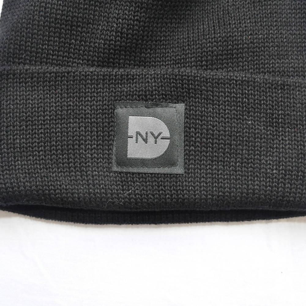DAVE'S NEW YORK/デイヴス ニューヨーク DAVE'S NEW YORK ICONIC LOGO COTTON KNIT BEANIE BLACK-3