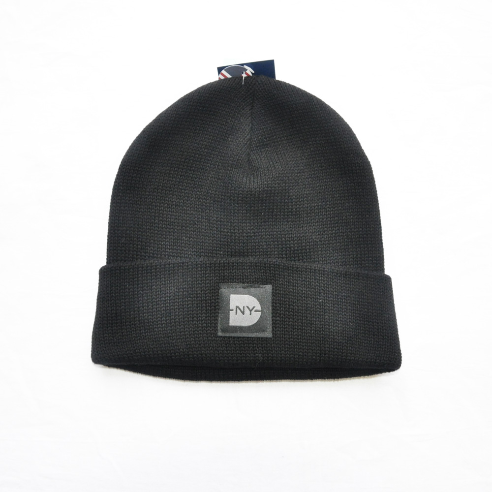 DAVE'S NEW YORK/デイヴス ニューヨーク DAVE'S NEW YORK ICONIC LOGO COTTON KNIT BEANIE BLACK