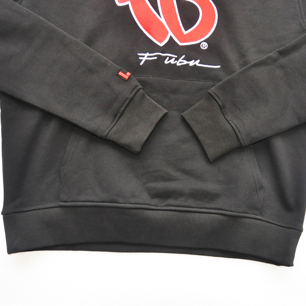 FUBU/フーブ LOGO SWEAT HOODIE BLACK DEAD STOCK-5