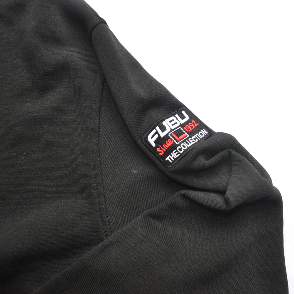 FUBU/フーブ LOGO SWEAT HOODIE BLACK DEAD STOCK-6