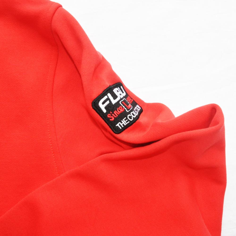 FUBU/フーブ LOGO SWEAT HOODIE RED DEAD STOCK-6
