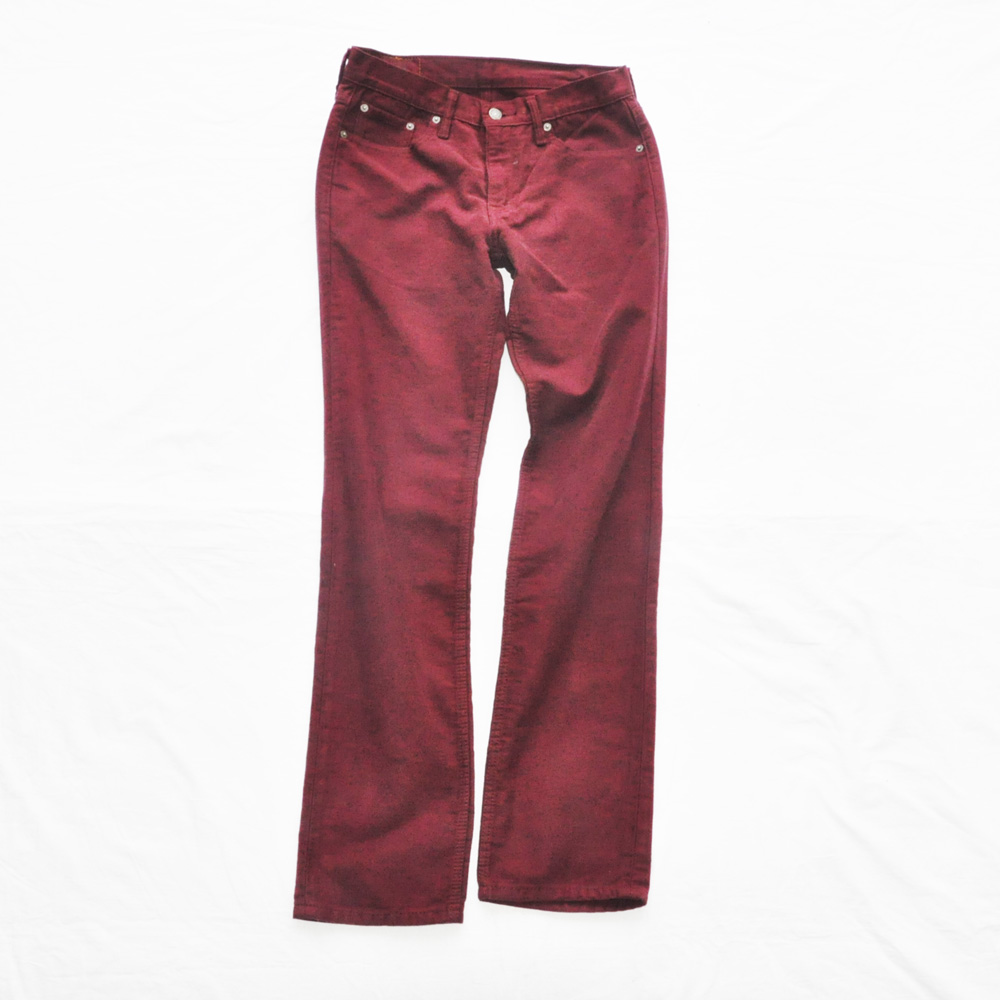 LEVI'S /リーバイス 511 SLIM FIT COLOR DENIM BURGUNDY W30×L32