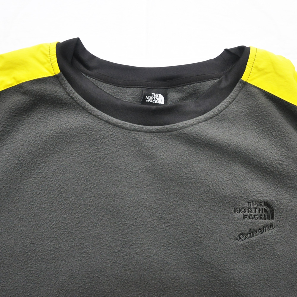 THE NORTH FACE/ザノースフェイス 90'EXTREME FLEECE PULL OVER NEON YELLOW×GRAY BIG SIZE-3