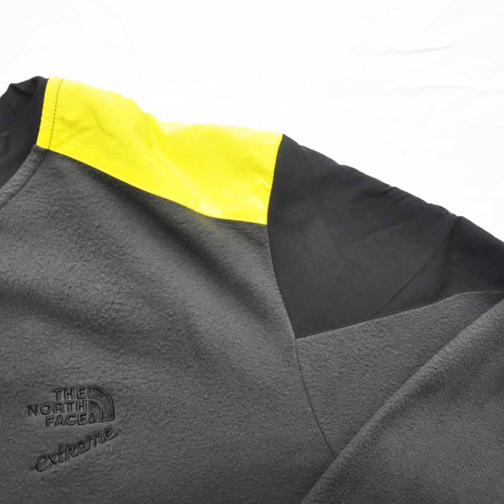 THE NORTH FACE/ザノースフェイス 90'EXTREME FLEECE PULL OVER NEON YELLOW×GRAY BIG SIZE-5