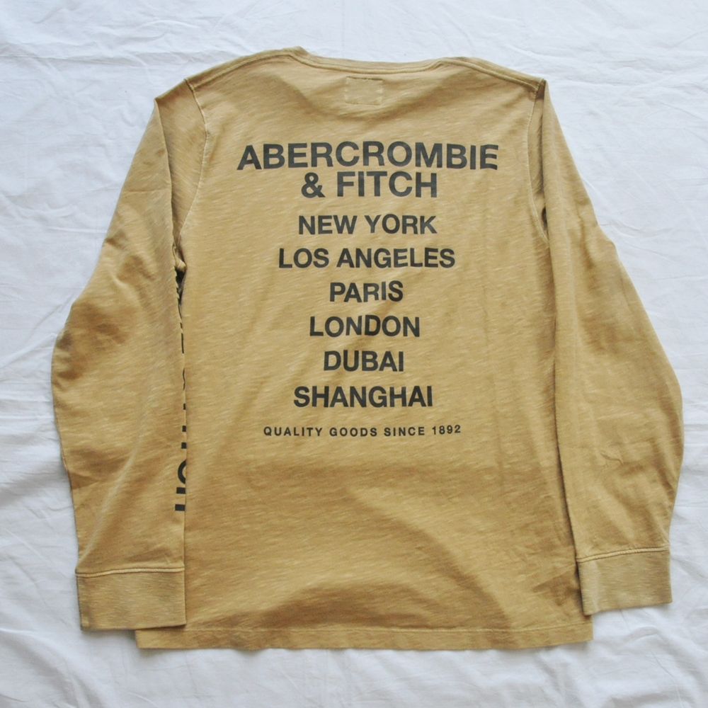ABERCROMBIE&FITCH/アバクロンビー&フィッチ Abercombie&Fitch ESTABLISHED 1892 LONG SLEEVE T-SHIRT BIG SIZE