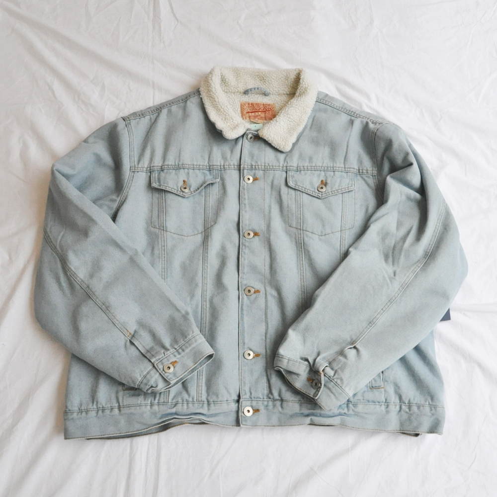 BROOKLYN CLOTH/ブルックリンクロス BOA DENIM JACKET 4XL BIG SIZE