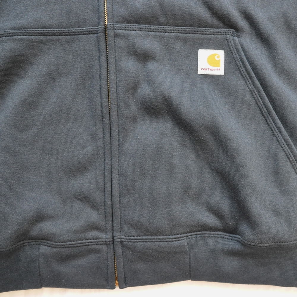 CARHARTT/カーハート RAIN DEFFENDER ORIGINAL FIT FULL ZIP HOODIE NAVY 4XL BIG SIZE-5