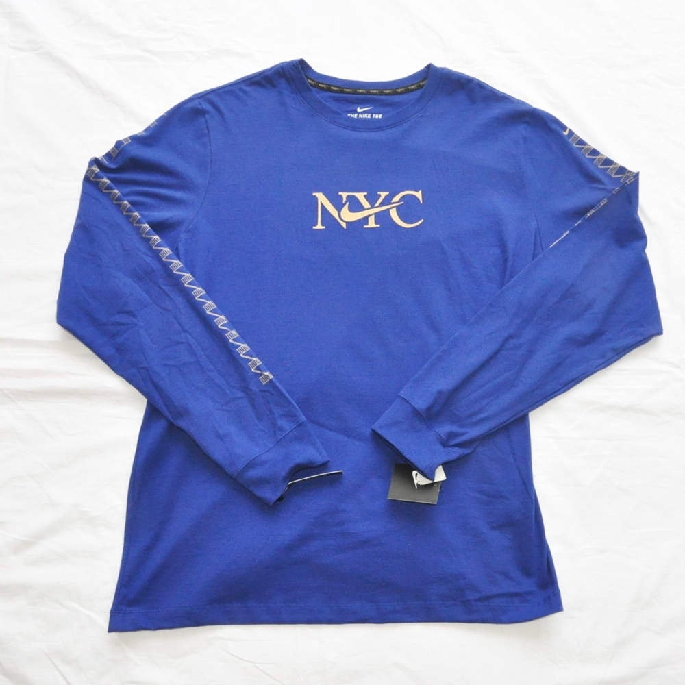 NIKE/ナイキ NIKE SPORTS WEAR 5 BOROUGH NYC LONG SLEEVE T-SHIRT BLUE NYC LIMITED BIG SIZE