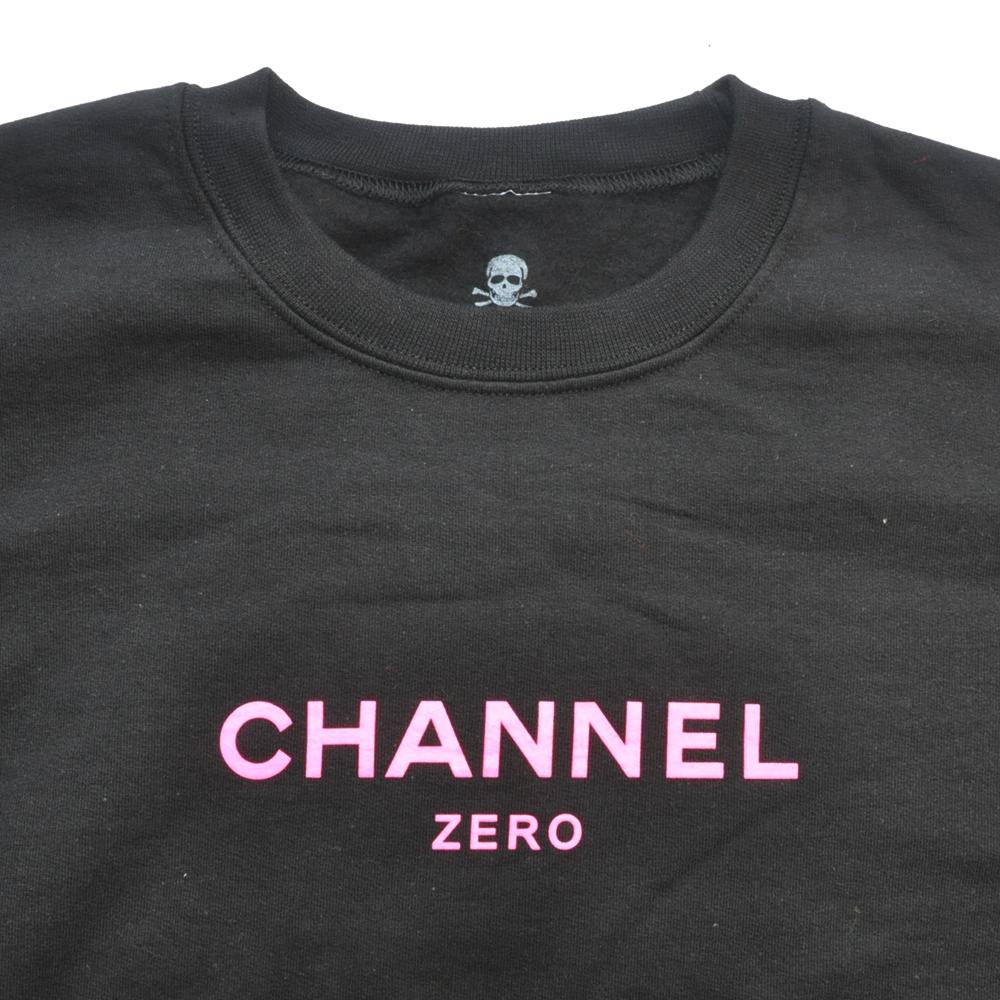 SSUR/サー SSUR CHANNEL ZERO CREW NECK SWEAT BLACK×NEON PINK-4