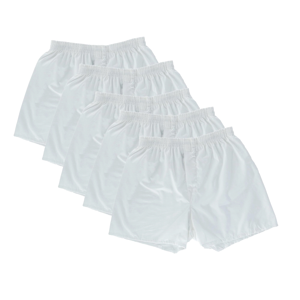 FRUIT OF THE LOOM/フルーツオブザルーム 5 PACK BOXERS SHORTS UNDER WEAR RELAXED FIT WHITE-4